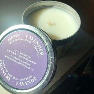 Urban Outfitters hemp & lavender soy candle